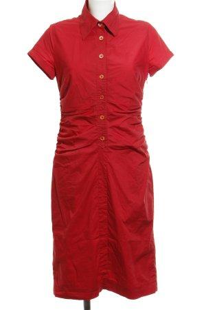 René Lezard Robe chemise rouge style décontracté