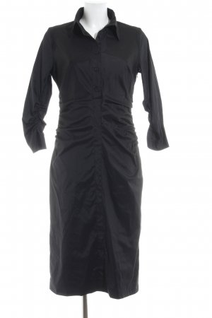 René Lezard Shirtwaist dress black casual look