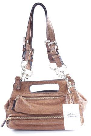 René Lezard Carry Bag light brown vintage look