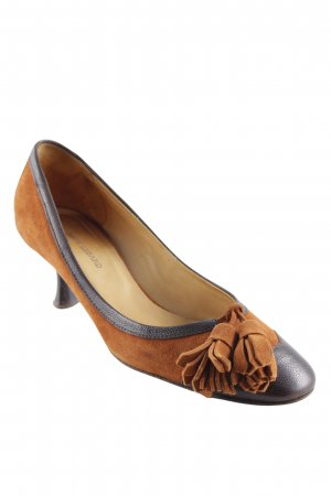 René Lezard High Heels cognac-dunkelbraun College-Look