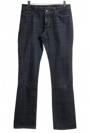 René Lezard Hoge taille jeans donkerblauw gestippeld casual uitstraling