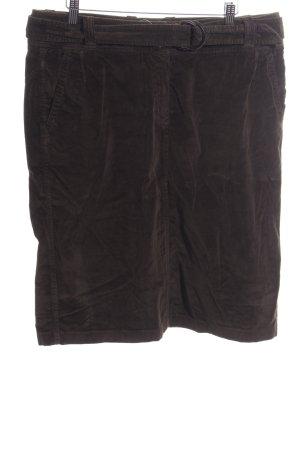 René Lezard High Waist Skirt brown casual look