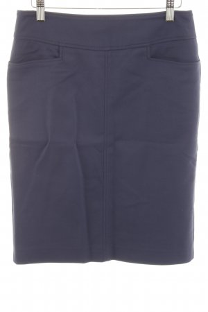René Lezard High Waist Rock dunkelblau Business-Look