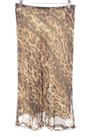 René Lezard High Waist Skirt leopard pattern Brit look