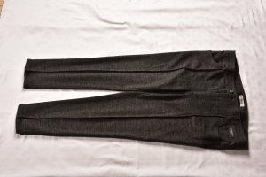 René Lezard Woolen Trousers dark grey-anthracite wool