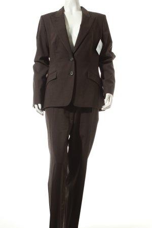 René Lezard Traje de pantalón marrón oscuro estilo «business»
