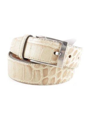 René Lezard Cintura fianchi bianco sporco motivo animale stile casual