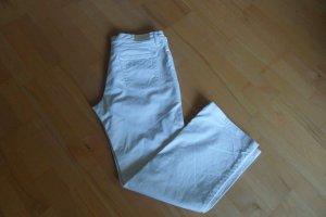 René Lezard Pantalon boyfriend blanc coton