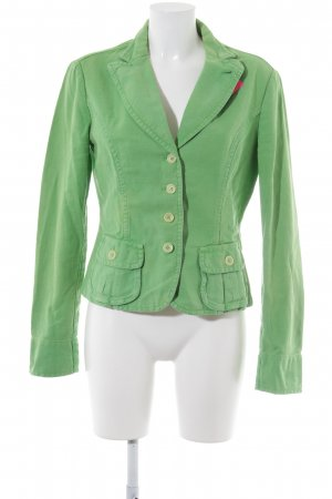 René Lezard Denim Blazer lime-green casual look
