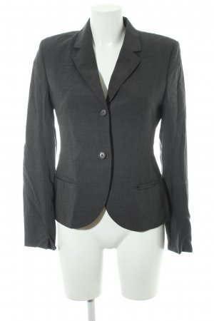 René Lezard Jerseyblazer dunkelgrau Business-Look