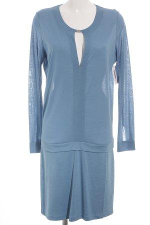 René Lezard Jerseykleid kornblumenblau-silberfarben Casual-Look