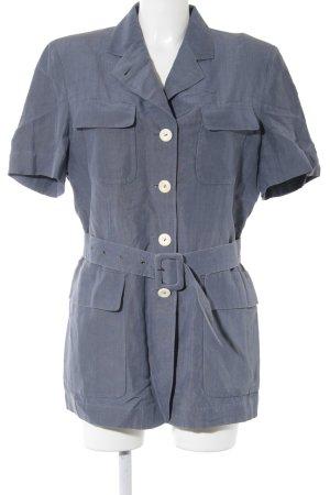 René Lezard Jerseykleid stahlblau Street-Fashion-Look