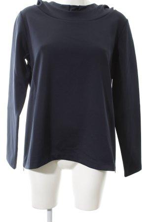 René Lezard Kapuzensweatshirt dunkelblau extravaganter Stil