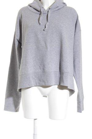 René Lezard Kapuzensweatshirt hellgrau sportlicher Stil