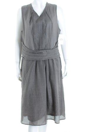 René Lezard Kleid graubraun-weiß Punktemuster 60ies-Stil