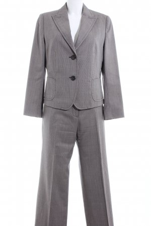 René Lezard Trouser Suit light grey weave pattern business style