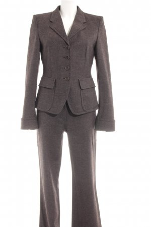 René Lezard Kostüm dunkelbraun meliert Business-Look