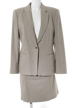 René Lezard Kostüm graubraun meliert Business-Look