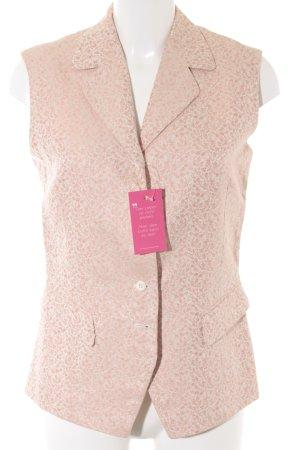 René Lezard Blazer corto crema-rosa antico motivo floreale elegante