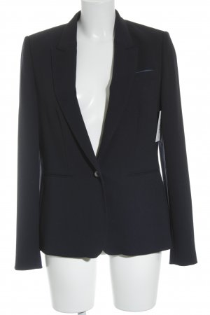 René Lezard Kurz-Blazer dunkelblau Business-Look