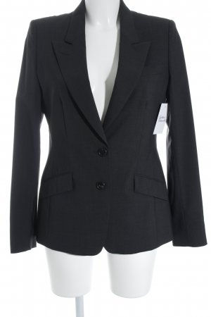 René Lezard Kurz-Blazer dunkelgrau Business-Look