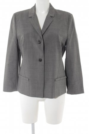 René Lezard Kurz-Blazer grau Business-Look