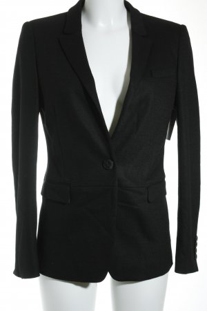 René Lezard Kurz-Blazer schwarz Business-Look