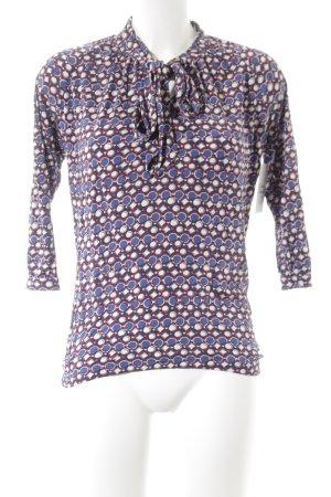 René Lezard Langarm-Bluse abstraktes Muster klassischer Stil
