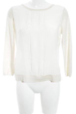 René Lezard Langarm-Bluse creme Elegant