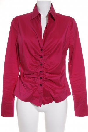 René Lezard Langarm-Bluse magenta Street-Fashion-Look