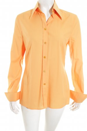 René Lezard Langarm-Bluse orange Elegant