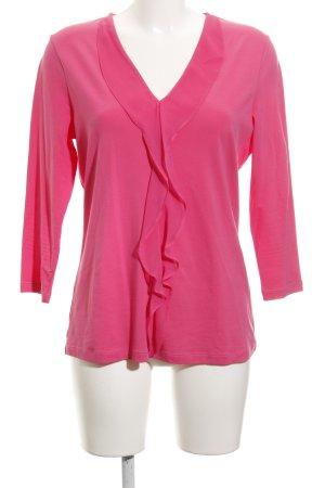 René Lezard Langarm-Bluse pink Casual-Look