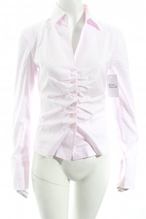 René Lezard Langarm-Bluse rosa Business-Look