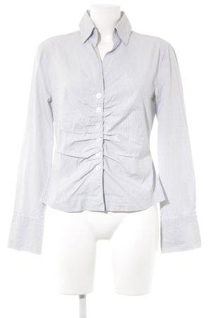 René Lezard Langarm-Bluse weiß-schwarz Streifenmuster Business-Look