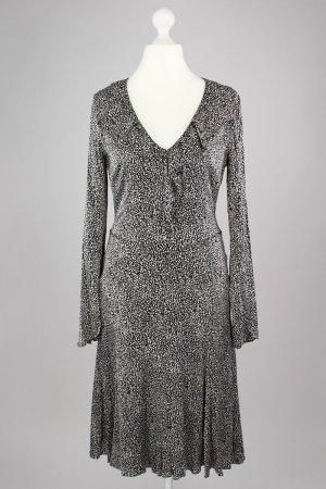 Rene Lezard Langarm Kleid schwarz Größe 40 1711380151247