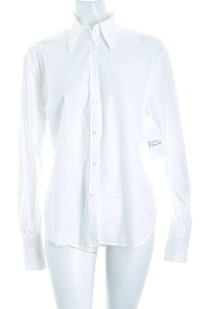 René Lezard Shirt met lange mouwen wit zakelijke stijl