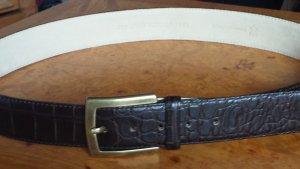René Lezard Cintura di pelle marrone scuro Pelle