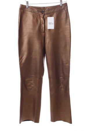 René Lezard Lederhose bronzefarben extravaganter Stil