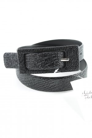 René Lezard Faux Leather Belt black casual look