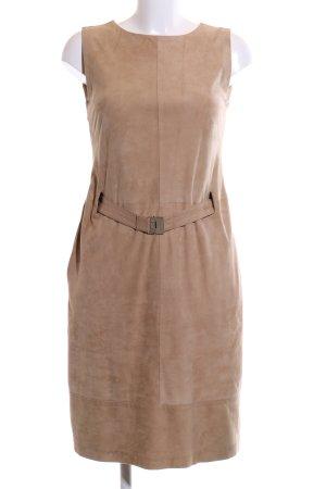 René Lezard Leren jurk bruin extravagante stijl