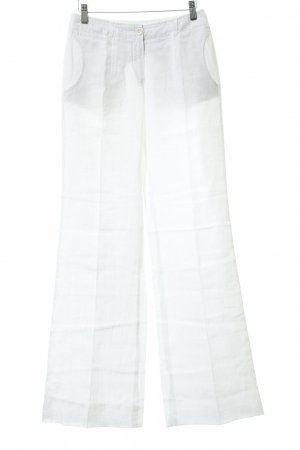 René Lezard Linen Pants natural white casual look