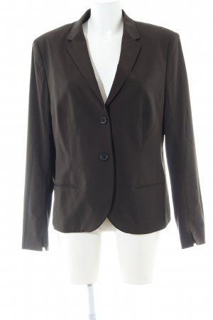 René Lezard Long-Blazer dunkelbraun Business-Look