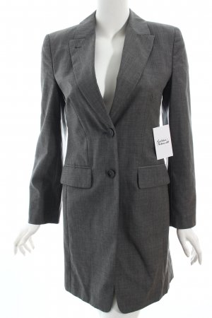 René Lezard Long-Blazer grau Business-Look