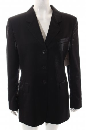 René Lezard Long-Blazer schwarz Elegant