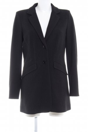 René Lezard Blazer largo negro-taupe moteado estilo «business»