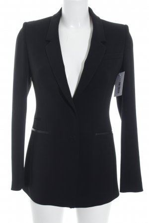René Lezard Long-Blazer schwarz-ziegelrot Business-Look