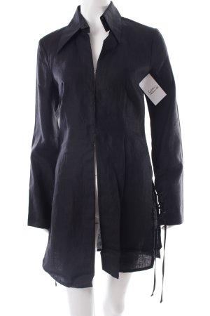 René Lezard Long-Bluse schwarz Boho-Look