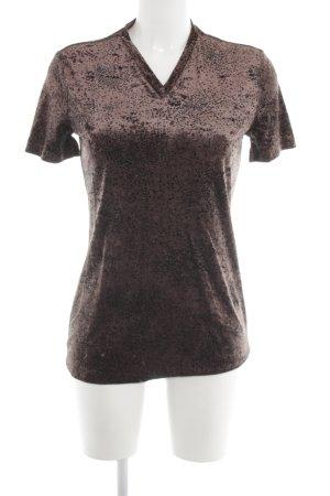 René Lezard Lang shirt bruin casual uitstraling