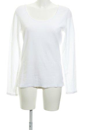 René Lezard Manica lunga bianco sporco stile casual