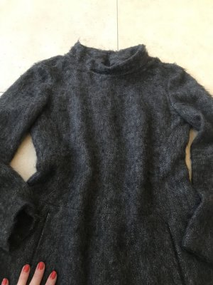 René Lezard Wollen jurk donkerbruin